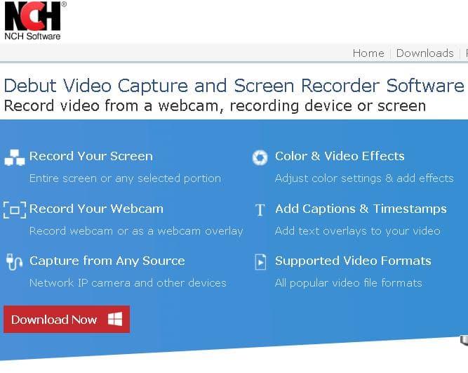 Nch Software capture vidéo
